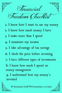 The Financial Woman Financial Freedom Checklist