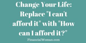 Financial Woman Financial Empowerment for Women- afford it